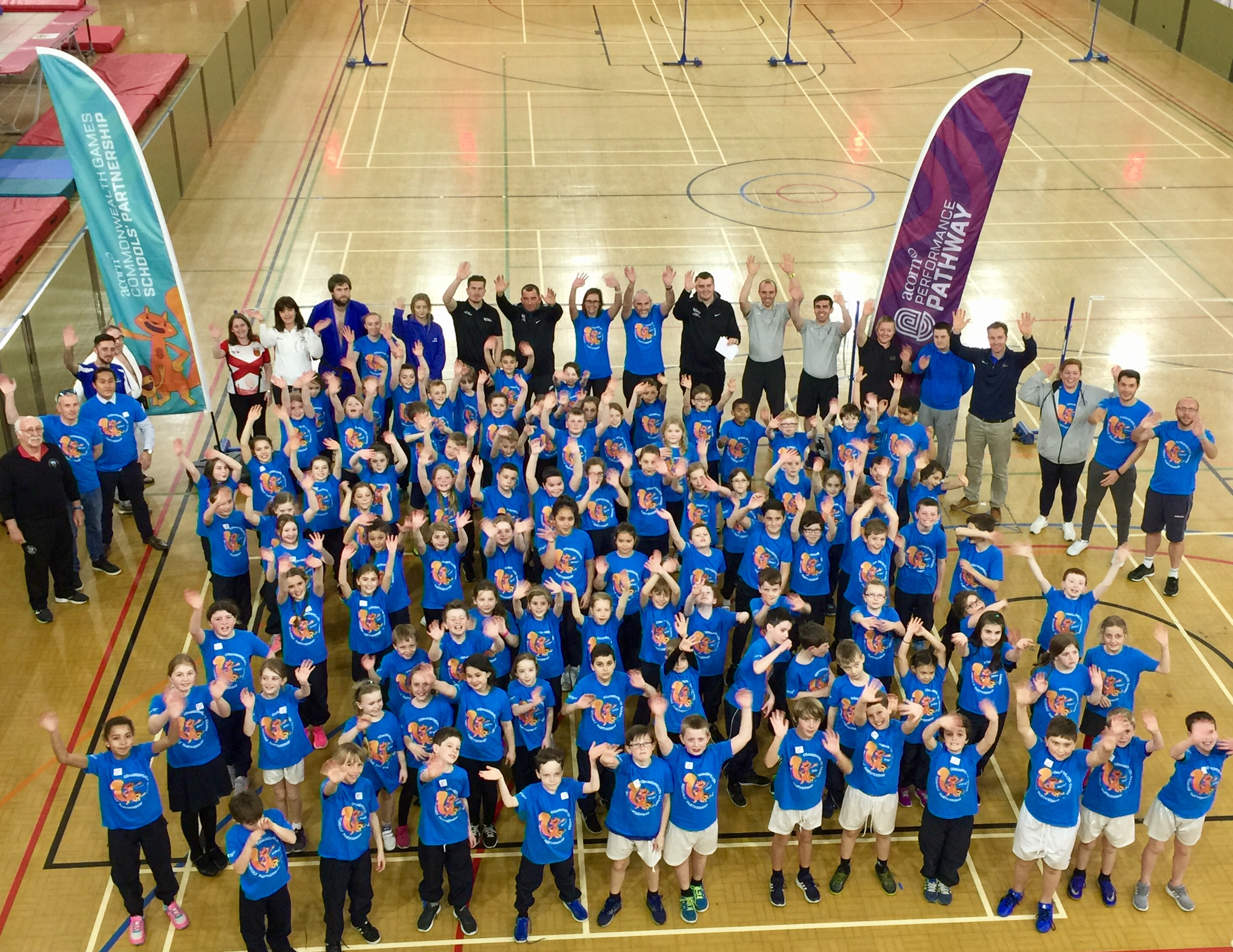 Acorn Commonwealth Games Schools' Partnership pupils picture